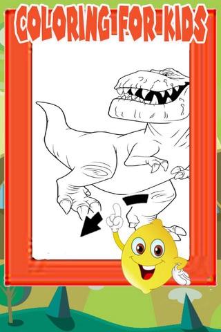 Shark Donosaur Hunter coloring game for kid screenshot 1