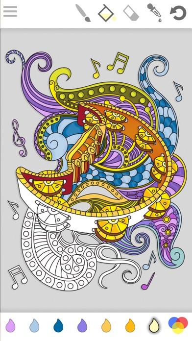 iphone screenshot 1 - Mandala Coloring Book