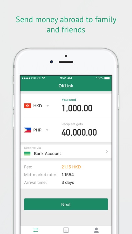 Oklink Send Money Anywhere Instantly By Technology