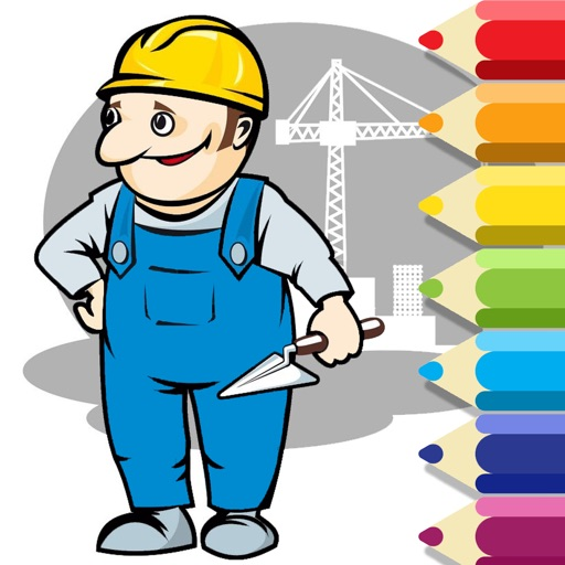 Coloring Book Game The Builder Version iOS App