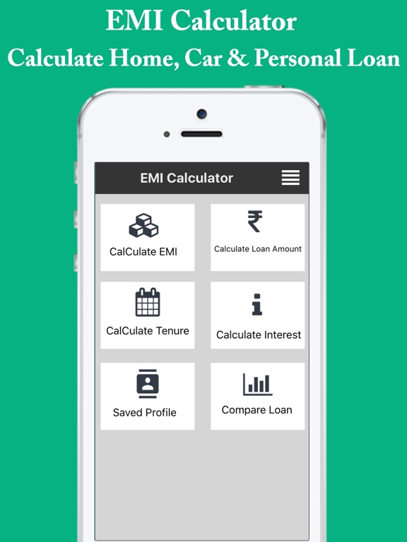 Emi Calculator  Easy EmiLoanInterest Calculator On The App Store