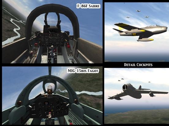 Screenshot #1 for GSIII - Flight Simulator - Heroes of the MIG Alley