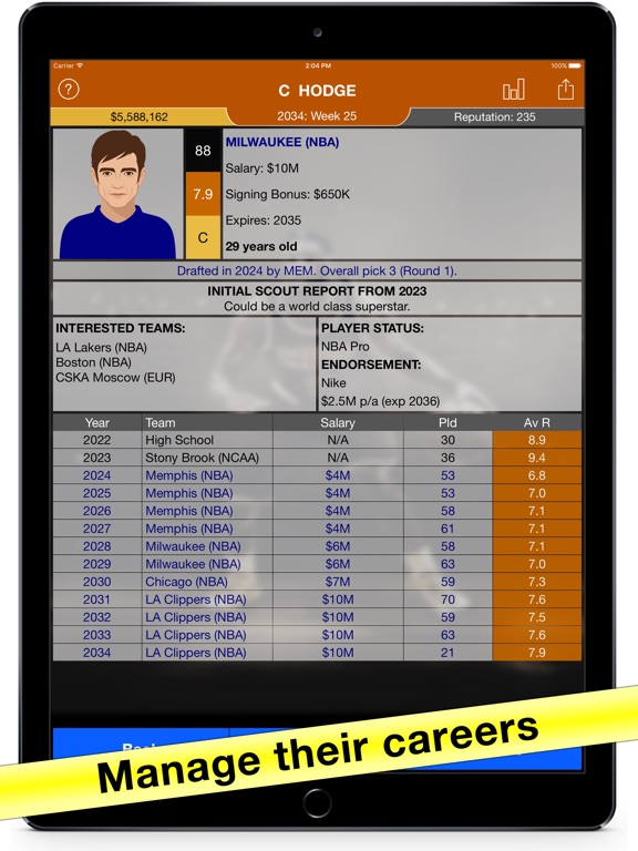 Basketball Agent: Manager Sim on the App Store