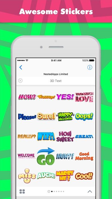 Стикеры 3D текст от NestedApps StickersСкриншоты 1