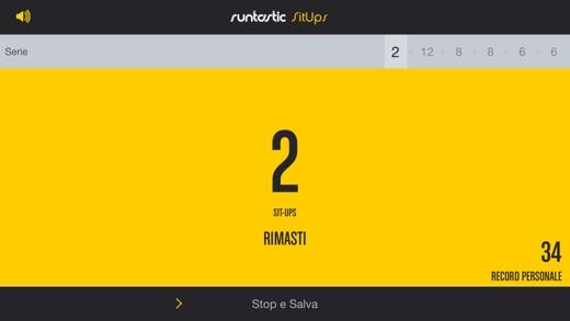 Runtastic Sit Ups Allenatore Screenshot