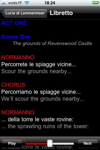 Screenshot of Opera: Lucia di Lammermoor4