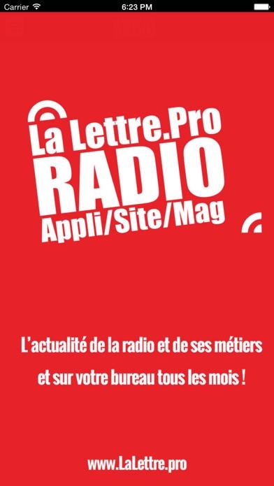 La Lettre Pro de la RadioCapture d'écran de 1