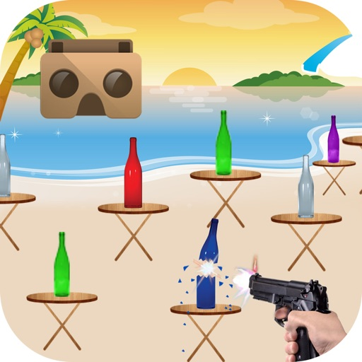 VR Bottle Shoot Simulator For Google Cardboard iOS App