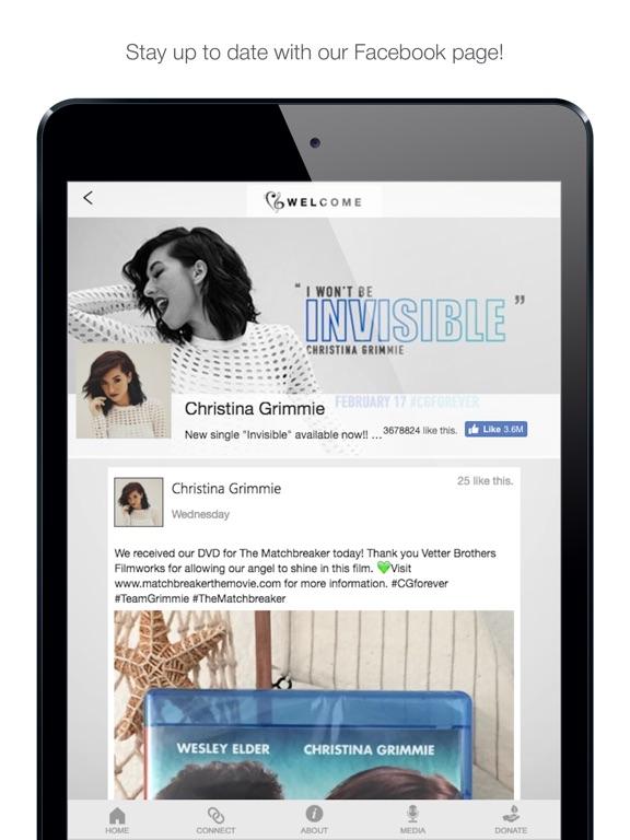 Screenshot #2 for Christina Grimmie Foundation
