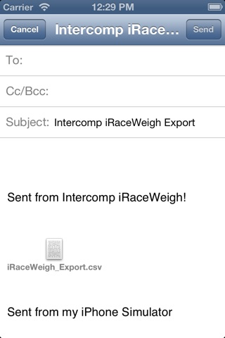 iRaceWeigh screenshot 4