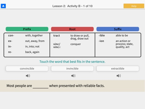 Word Roots Level 1 screenshot 3