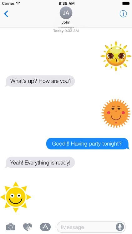 Sunny Stickers - Sun Emojis For Sun Lovers by Ilya Moskovoy