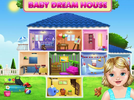 Screenshots of Baby Dream House - Care, Play and Party at Home! for iPad