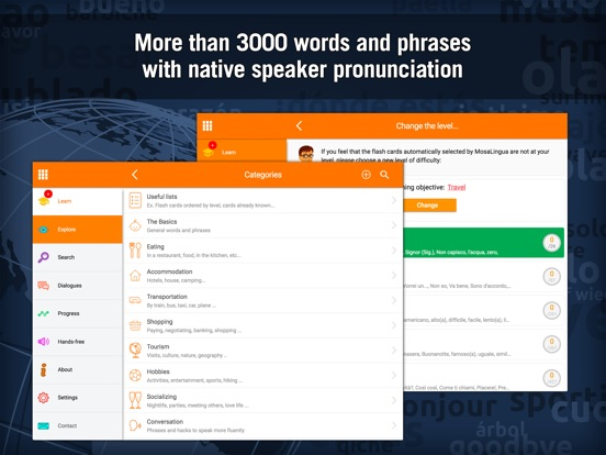 Learn Italian - MosaLingua Screenshots