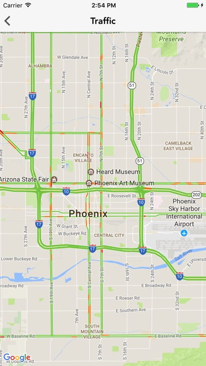 Traffic Map Phoenix Az.Phxwx Phoenix Az Weather Forecast Traffic Radar By Mediasota Llc