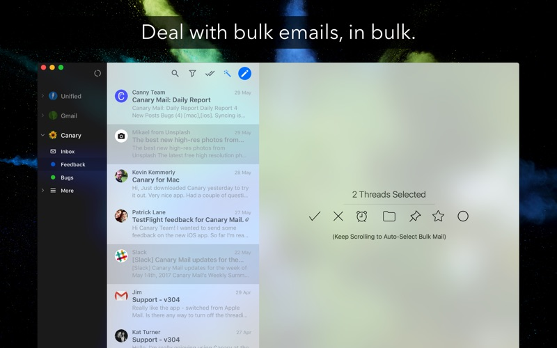 Canary Mail - Encrypted Email Screenshots
