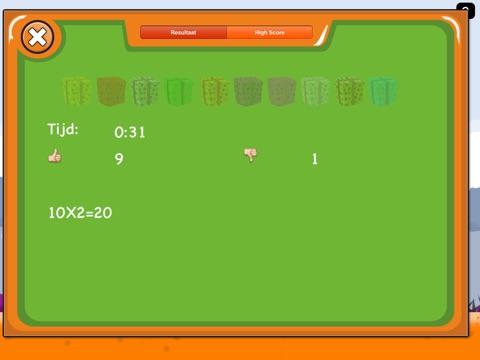 Tafels Oefenen Screenshot