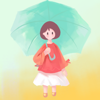 Color Girl - the girl in the raining