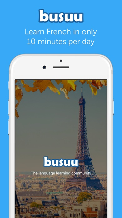download busuu - Learn to speak French appstore review