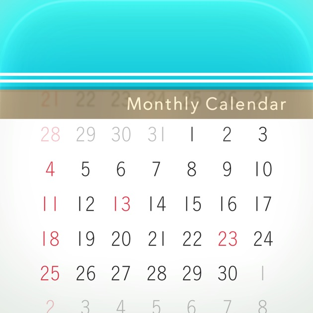 Weekly Calendar App Mac : Monthly calendar moca on the app store