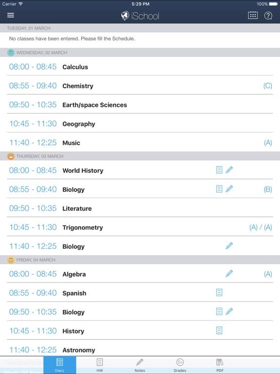 iШкола - школьный дневник Скриншоты8