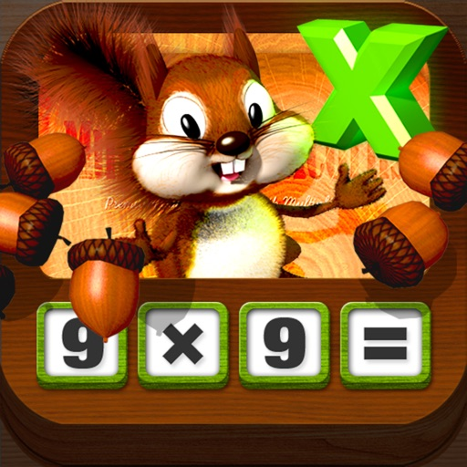松鼠教乘法高清版:Multiplying Acorns HD – Tasty Math Facts