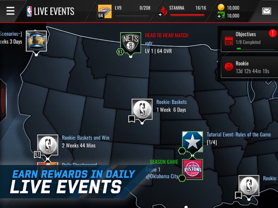 Screenshot #3 for NBA LIVE Mobile Basketball