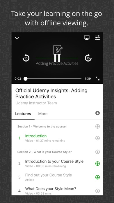 Screenshot 1 for Udemy's iPhone app'