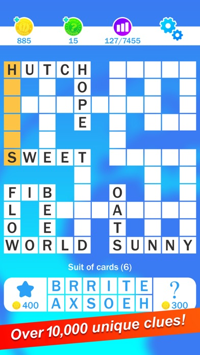 Screenshots of Crossword : World's Biggest Free Crosswords Game for iPhone