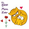 Adorable Cat For Mother's Day Sticker