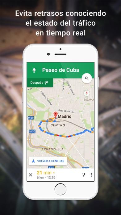 Google Maps: Navegación y tránsito Screenshot