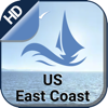 US East Coast offline nautical charts for boating
