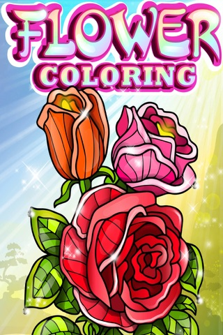 Flowers Coloring Pages for Adults Mandala Red Rose screenshot 1