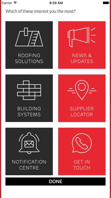Screenshot of Marley Building Systems App