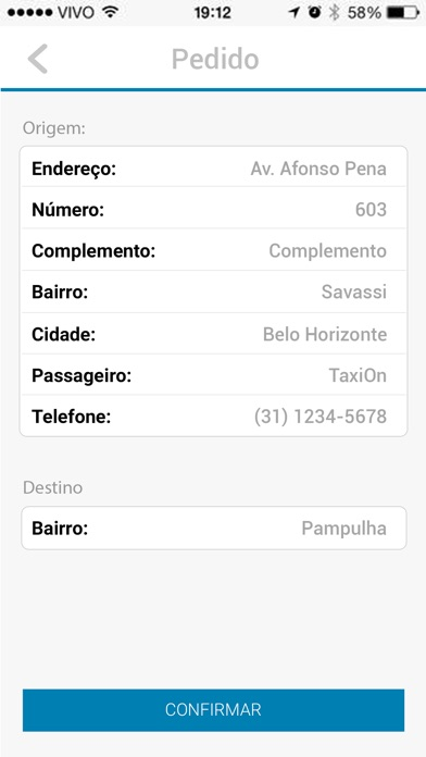Captura de tela do iPhone 4
