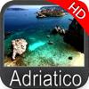 Adriatisches Meer GPS HD Seekarten zum Angeln