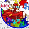 Fast and Fighter Airplane Jigsaw Puzzle fighter shape