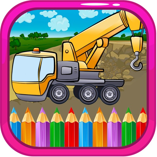 Paint Monster Coloring Pages Games Crane Truck  ANAICOM