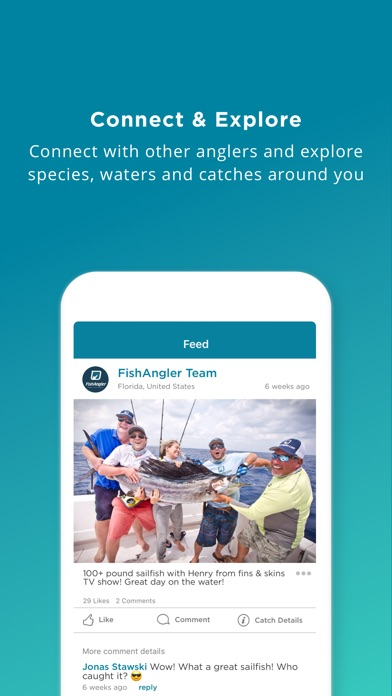 Fishing spots angling map trip weather on the app store for Fishing spots near me app