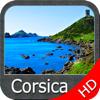 Boating Corsica GPS HD nautical charts fishing map