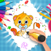 Animals Coloring Page Game - Jungle Dairy