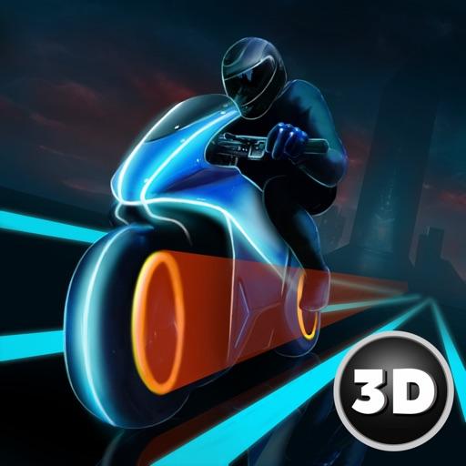 Neon Motorcycle Racing