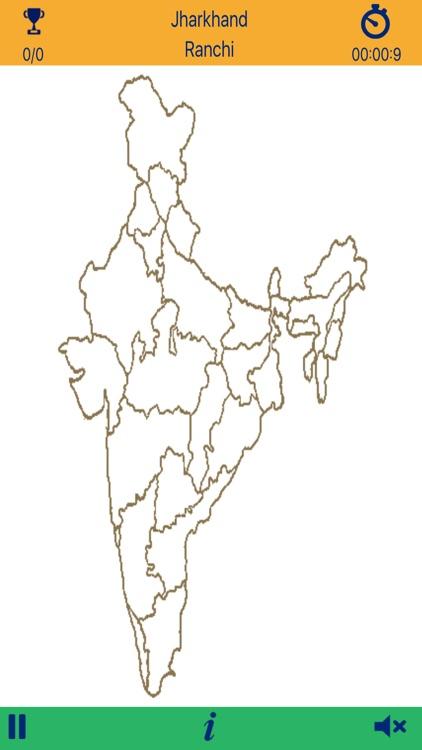 Geogems India Statescapitals Map Quiz by Vinay Bansal