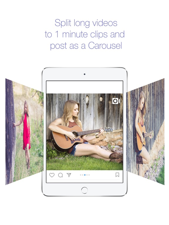 1min+ Split long videos to Carousel for Instagram Screenshots