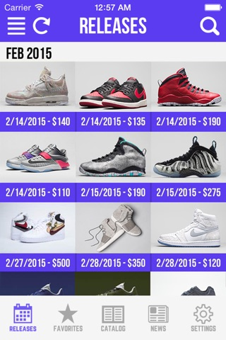 Sneaker Crush - Release Dates screenshot 1