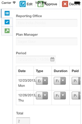iEmployee screenshot 2