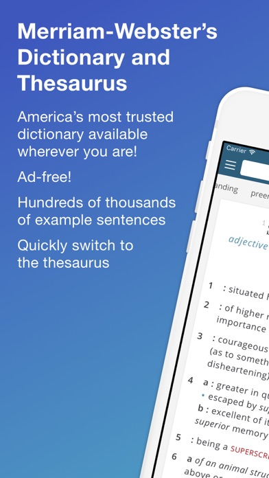 Merriam-Webster Dictionary+ Screenshot