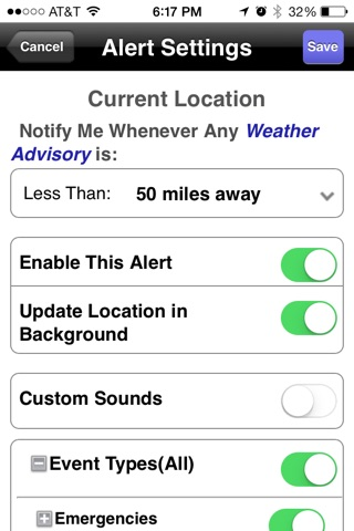 NOAA Weather Alerts screenshot 3