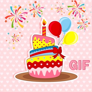 Animated Birthday Cake GIF Stickers App Report on Mobile Action