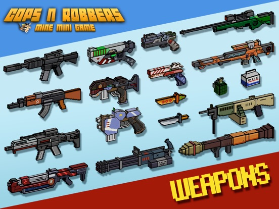 Cops N Robbers (FPS): 3D Pixel Screenshots
